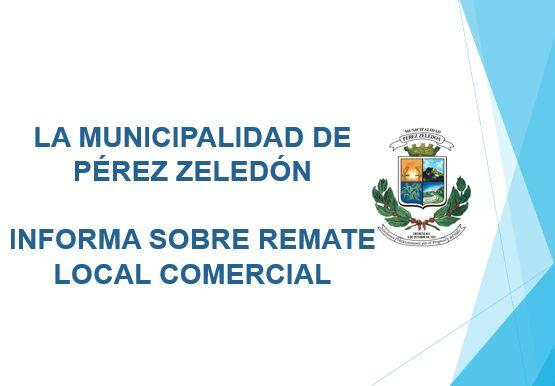 REMATE DE LOCALES COMERCIALES PARA ALQUILER