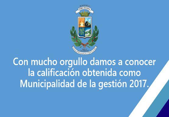 Calificación Municipal Gestión 2017