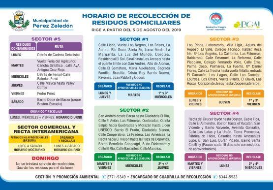 Calendario Recolección 2019